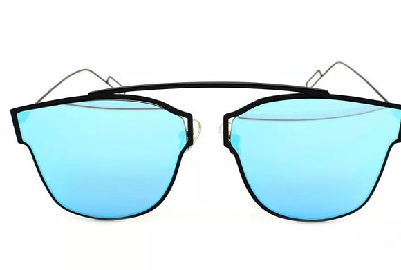 COMPOSIT Mirror Lens Futuristic Women Sunglasses Metal Frame Designer Fashion