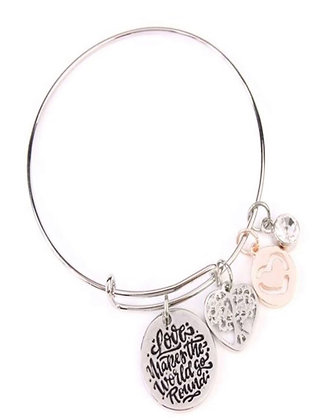 Love Makes the World Go Around Bracelet