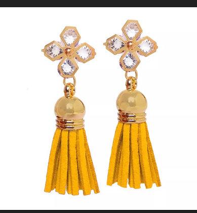 Tassel Earrings Dangle Stud Earrings Crystal Women Fashion Ear Jewelry