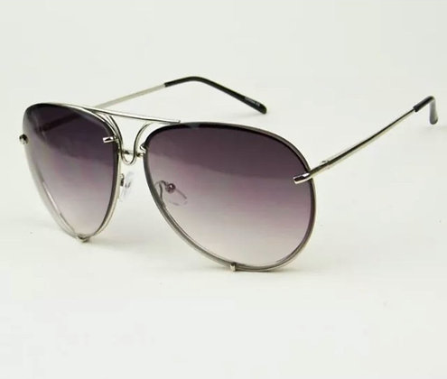 LUX Oversized Large Porsh Studs Wire Metal Aviator Big Baddie Sunglasses