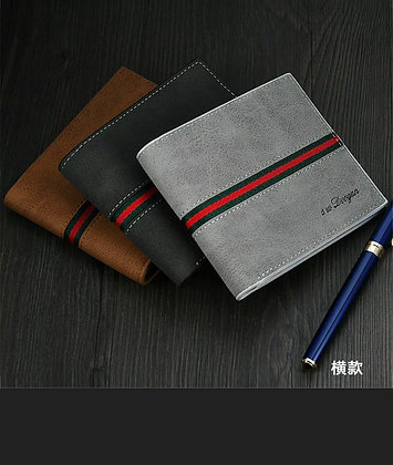 Men Leather Bifold Id Card Holder  Wallet Billfold Handbag Slim Clutch