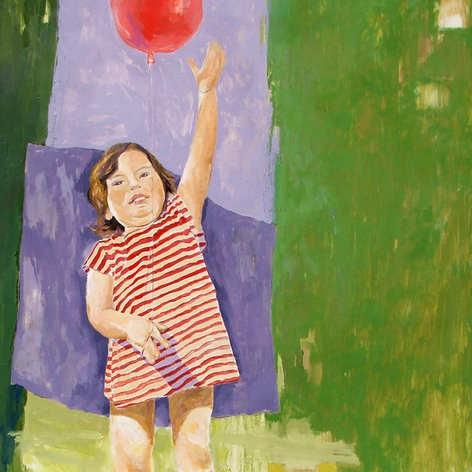 Bambina con palloncino - olio su tela 2008