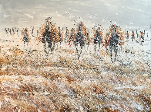 Winter on the Plains 30x40