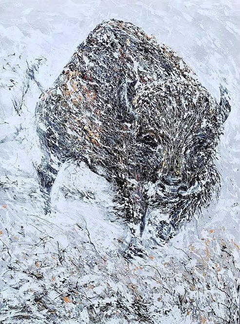 Buffalo in the Blizzard 36''x48''