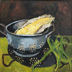 Sweet Corn, Bbeans and The Old Colander