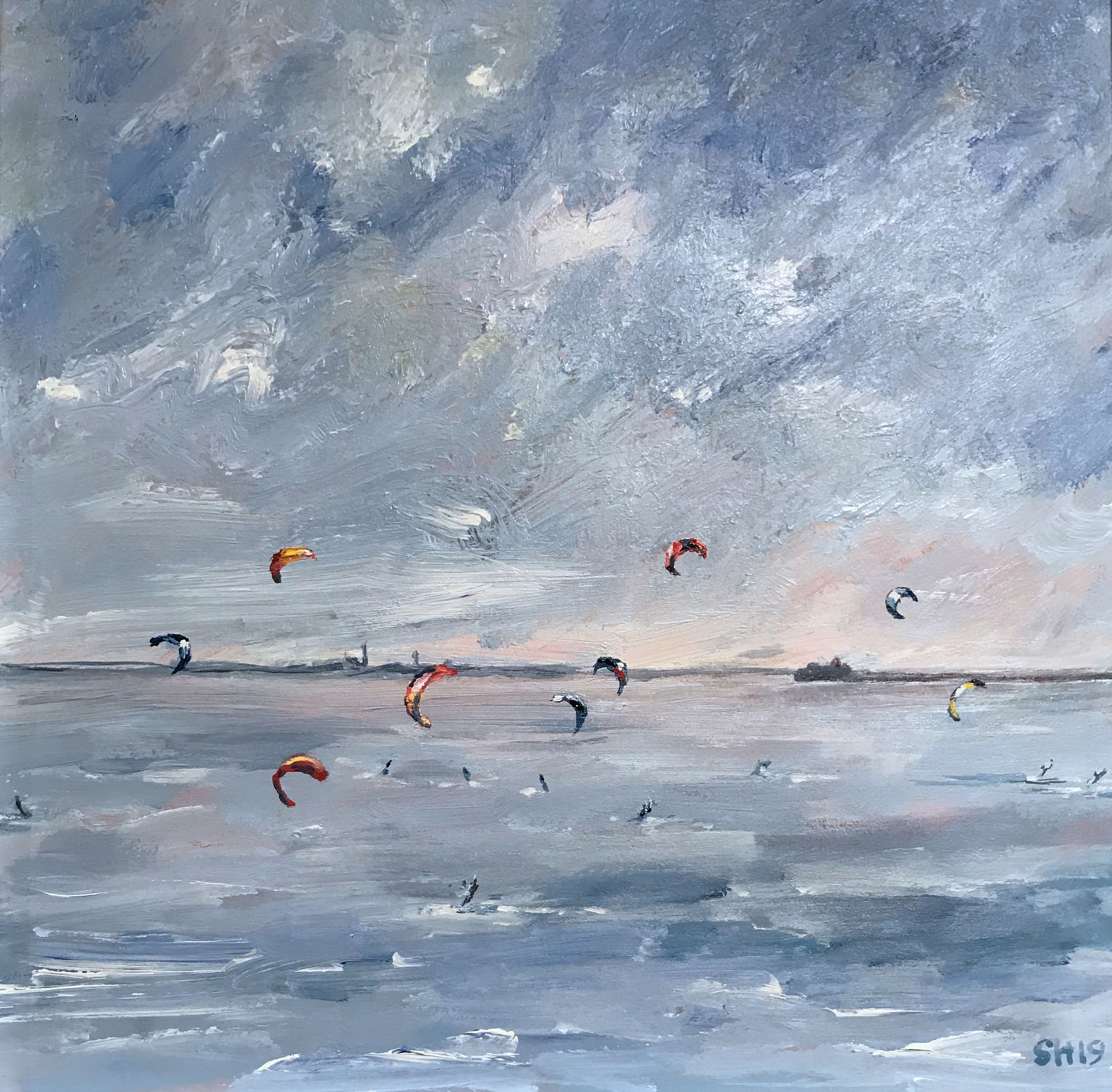 Kite Surfing in The Estuary