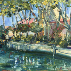 Afternoon Sunlight at The Canal du Midi
