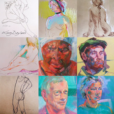 A confetti of life drawing and portraits