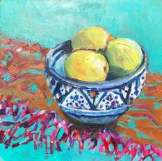 Three Lemons, Blue Bowl