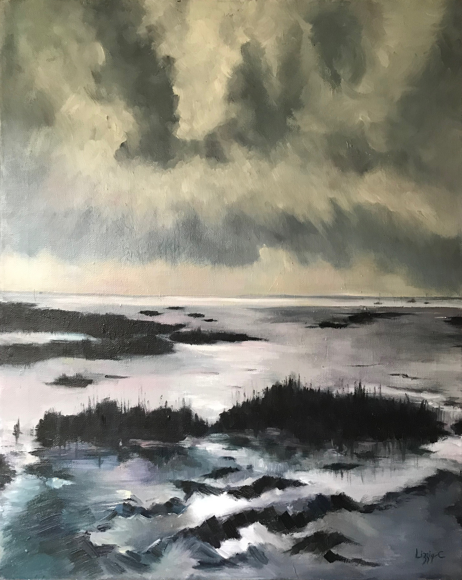 Estuary in Grey
