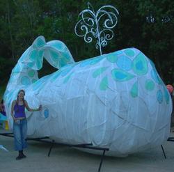 Alex Bridge at the Woodford Folk Festival fire event whale image 2007