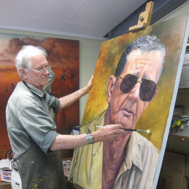 John Morrison painting Bob Irwin