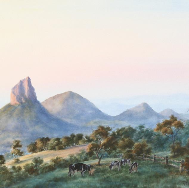 Glasshouse Mountains  by John Morrison