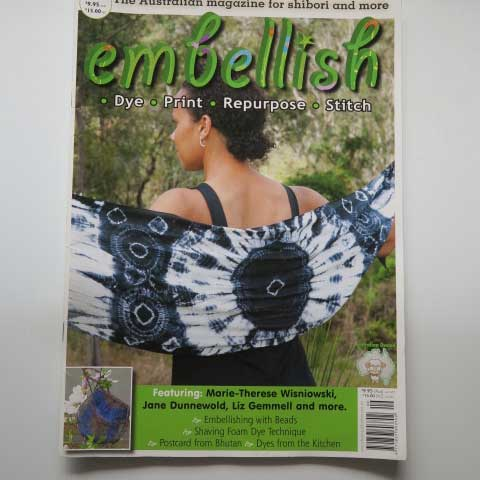 Shibori scarf, Embellish Magazine