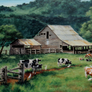 Mountain Barn  by John Morrison