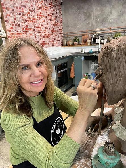 Fried Mudd Pottery - Cathy Lawley working.jpg
