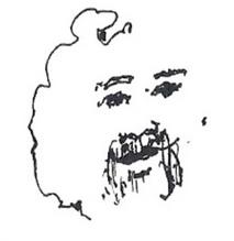 SELF PORTRAIT ... minimalist pen drawing