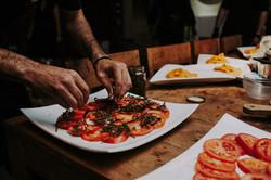 tomato carpaccio preparation