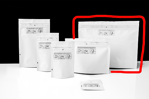 "12"" X 9"" Dymapak Double Zipper Child-Resistant Mylar Bags"