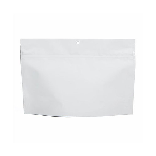 "8"" x 6"" White Child-Resistant Bargain Bag Mylar Bag"