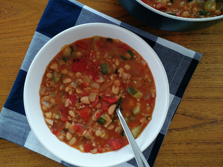 Farro, Bean, and Vegetable Soup