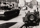 1961 US forces at checkpoint charlie berlin. Donate for historycommons.org