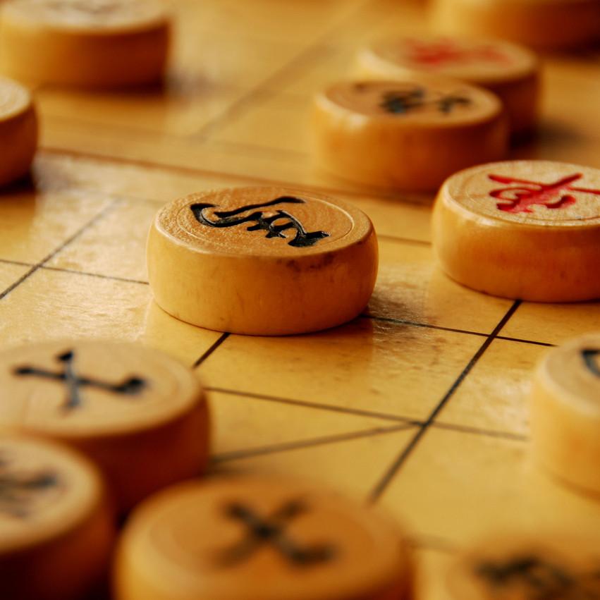 Chinesisches Schach (Xiangqi) wird in den Cafés gespielt, in Vietnam bekannt als Cờ tướng. Kaffeekultur in Vietnam. Blog pascallaube.com