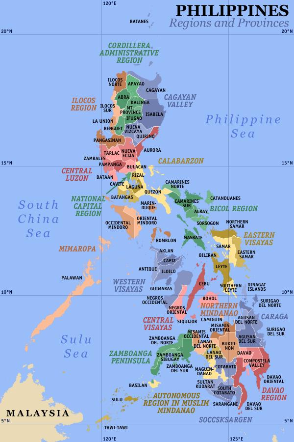 Provinzen und Regionen. Das Land der 7000 Inseln - Die Philippinen. Blog pascallaube.com