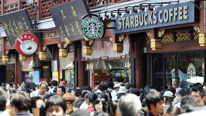 Starbucks, Shanghai, China, luckin' coffee, coffee box
