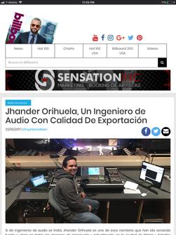 Jhander Orihuela / Billboard Venezuela