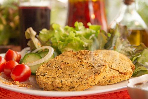 Hambúrguer de Faláfel com couve e limão 380 g - Emb. c/ 04 un.