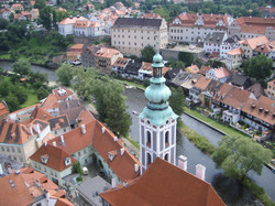 Cesky Krumlov, view from the Tower