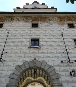 Renaissance entrance of the Jesuite