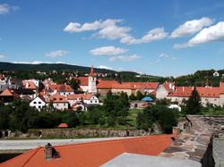 Cesky Krumlov, view on Monastery