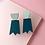 Thumbnail: ghost earrings – petrol bluemoon