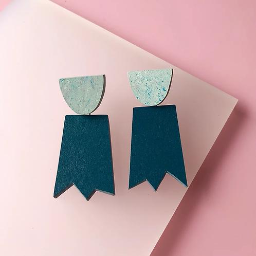 ghost earrings – petrol bluemoon