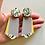 Thumbnail: knocker earrings – lilac yellow glow