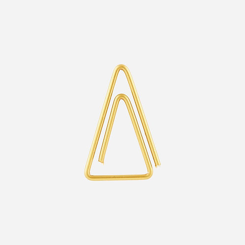 triangle brass paperclips