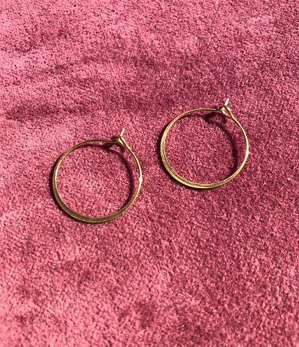 brass hoop earrings