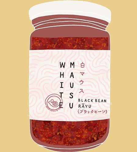 white mausu black bean rāyu