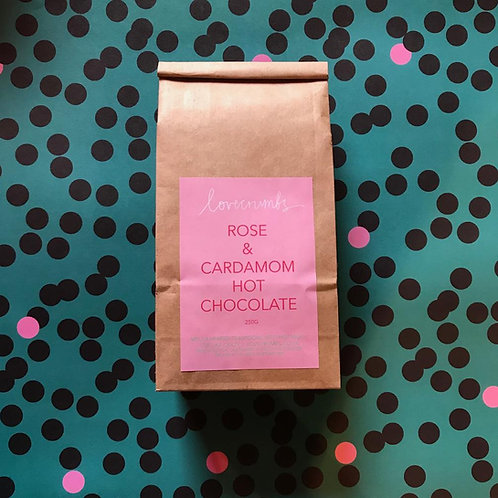 rose and cardamom hot chocolate