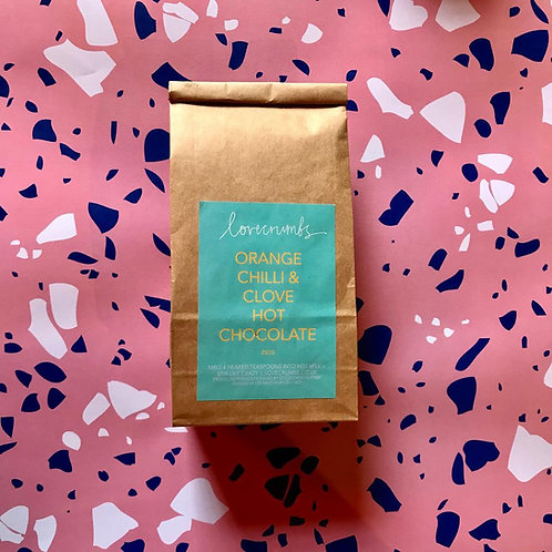 orange chilli & clove hot chocolate