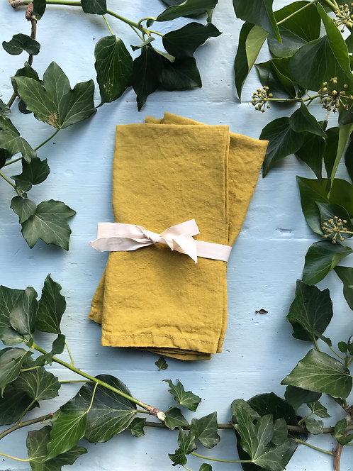 citrine linen napkins (2)