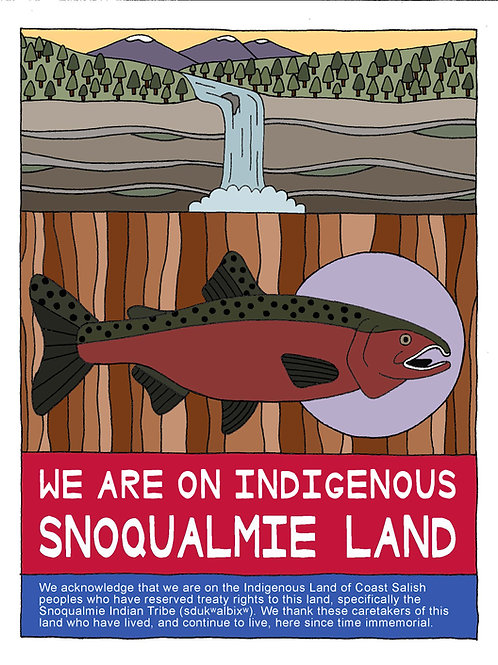 Land Acknowledgement Sign