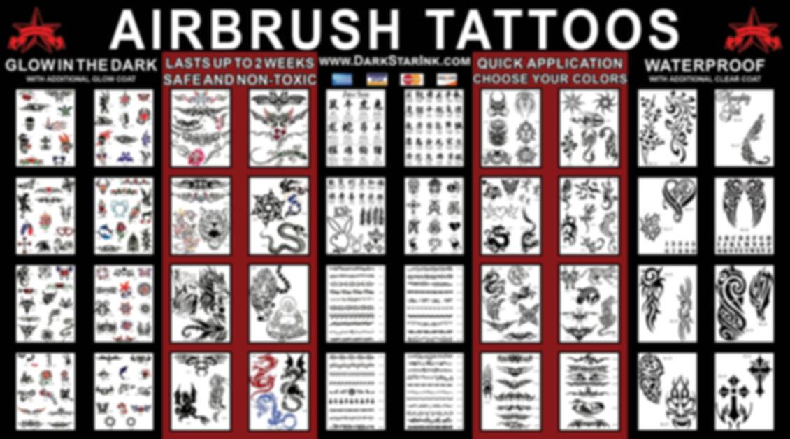 Airbrush Tattoo Deisgns