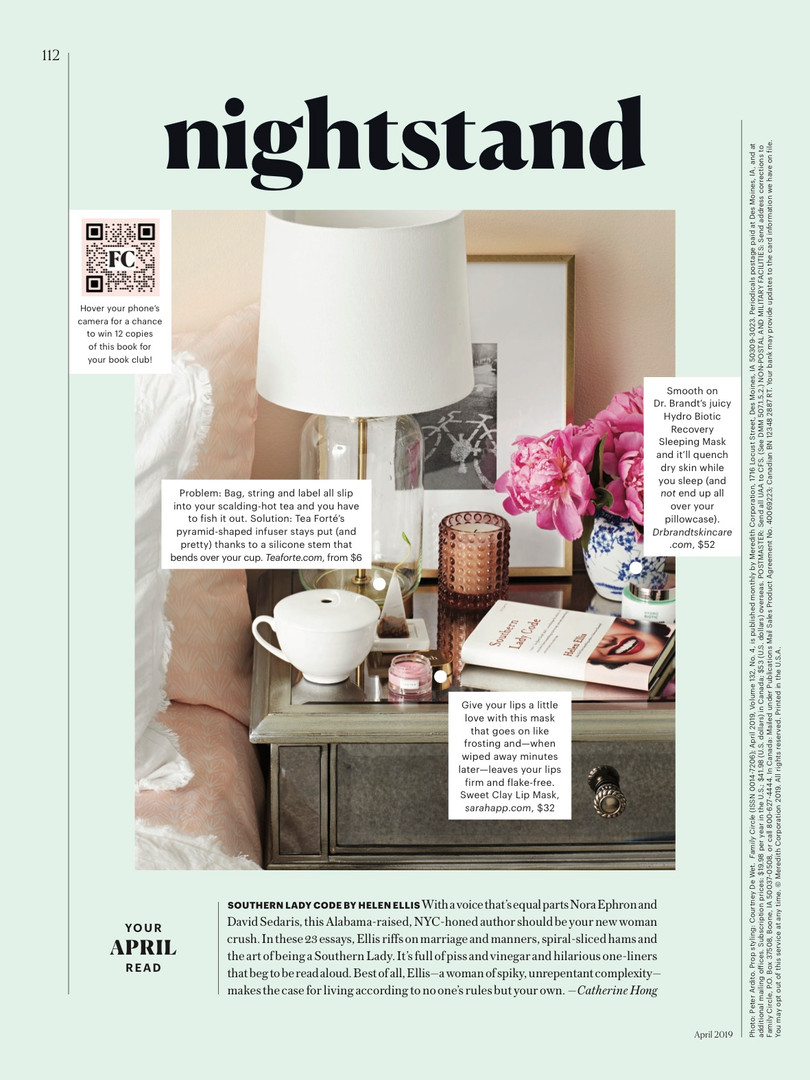 Family Circle Nighstand April 2019