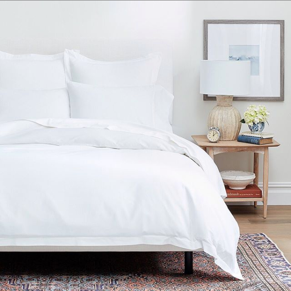 Boll & Branch organic cotton bedding.