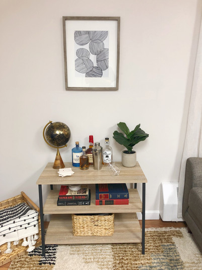 Masculine Bar Shelf