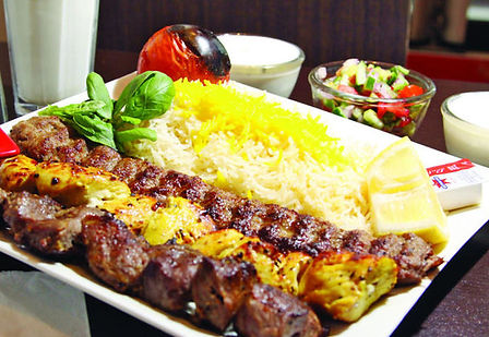 Chicken and Koobideh Kabob
