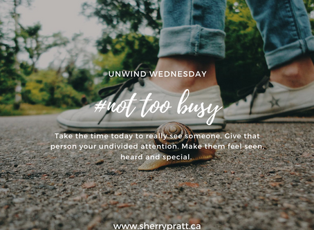 #not too busy (Unwind Wednesday)